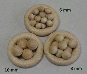 Holzkugeln 8 mm Ø ohne Bohrung