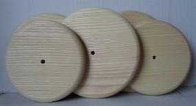 Holzrad glatt 120 mm Ø, Esche, runde Lauffläche