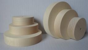 1 Stück Rad glatt, 60 mm Ø, Walzenform - Ahorn