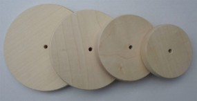 Holzrad glatt, 140 mm Ø, ballige Lauffläche