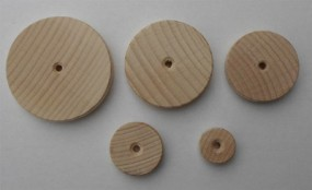 Holzräder glatt - Buche - 50 mm Ø