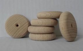 Holzräder mit Profil, 40 mm Ø