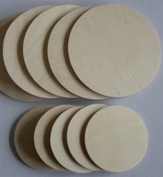 Sperrholzscheiben 60 mm Ø, 5 mm Dicke