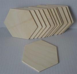 Sperrholzscheibe 6-Eck, 100 mm
